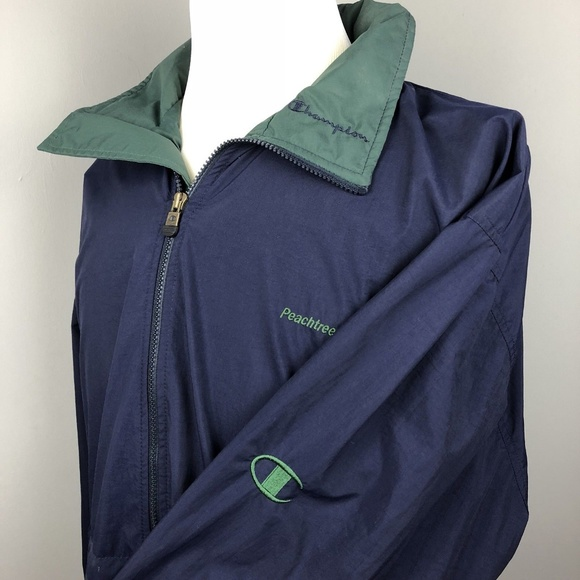 sophisticated technologies world-wide selection of hot-selling authentic Vintage Champion Rain Jacket Men XL Navy Blue